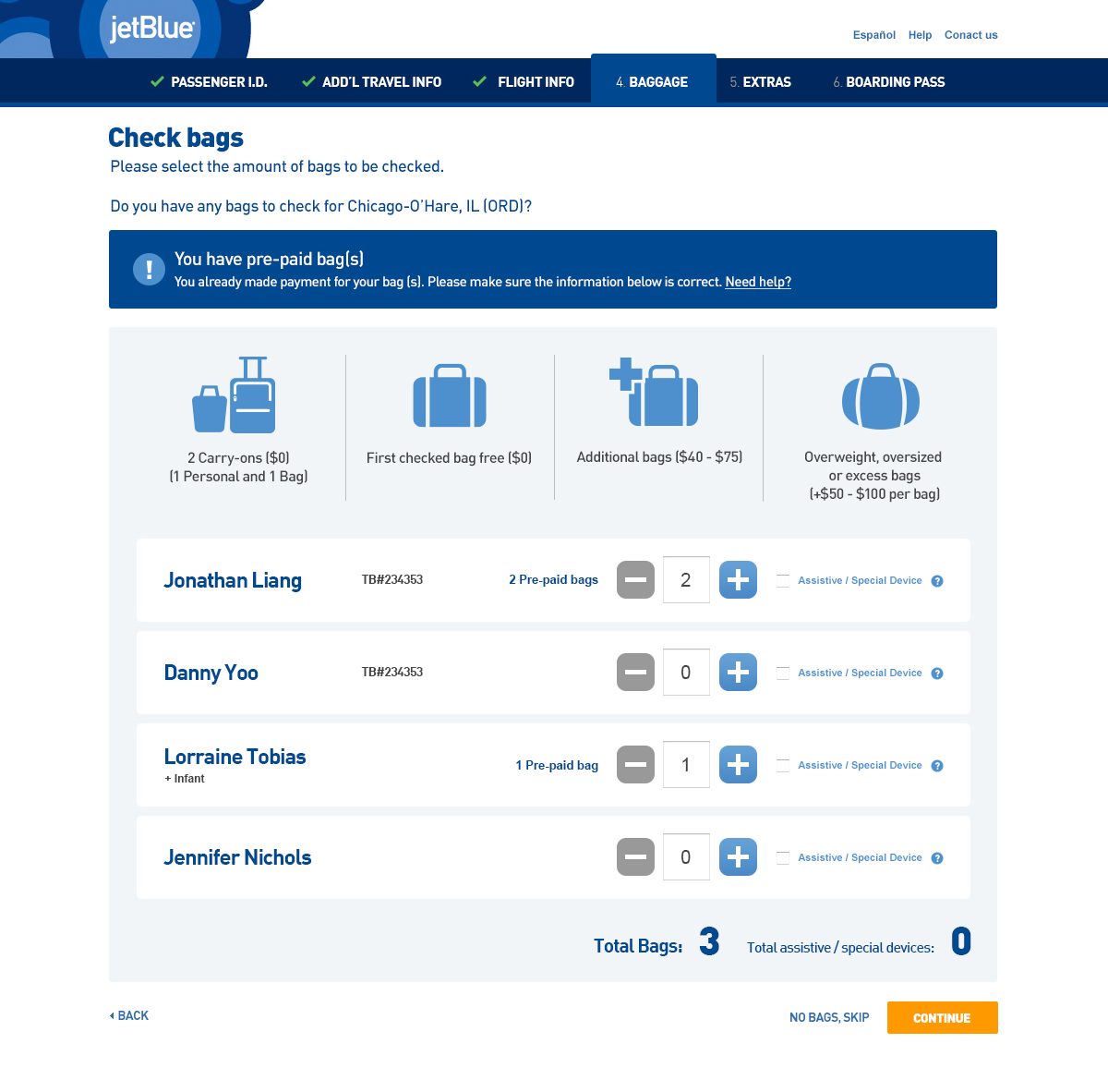 jetblue check in time online